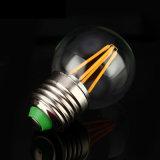 2W 4W G45 Edison E27, luz de bulbo do diodo emissor de luz do filamento B22