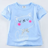 De leuke T-shirt van het Meisje in de Kleren van Kinderen met Druk sgt-067