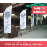 Fabrik-Preis-kundenspezifische im Freienbekanntmachenfederteardrop-Strand-Markierungsfahne