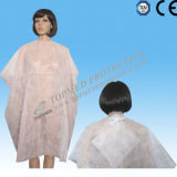 처분할 수 있는 Plastic Cutting Cape, 방수 Hairdressing Cutting Cape