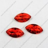 La Cina Wholesale Oval Crystal Fancy Stone Silver Base Point Back Crystal Stone per Jewelry Making