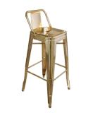 低のイベントの使用の金のクロムは金属Barstoolを支持する