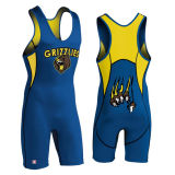 Cheap Sublimated Custom Made Wrestling Singlet para venda