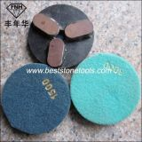 Almofadas de moedura do metal do diamante Cr-18 para o granito