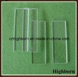 Diapositive claire 75*25*1mm de microscope en verre de quartz