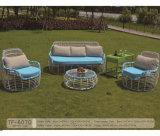 Sofá ao ar livre do Rattan da mobília Shaped a mais atrasada nova do jardim do projeto