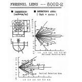 Freies Beispielbreiter Engelinfrarotfresnel-Objektiv für PIR Fühler