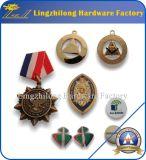 Cajas de presentación impresas aduana del terciopelo de la insignia