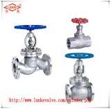 Soupape d'acier inoxydable et robinet d'arrêt sphérique avec la soupape de bride