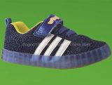 Ботинки детей холстины малышей Flyknit светлые с ботинком спорта обуви сетки