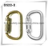 Taper à D le ressort d'acier allié verrouillant Carabiner (DS22-2)