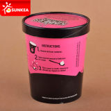 Tasse de papier faite sur commande d'emballage de crème glacée glacée