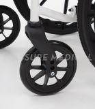 Складывая алюминиевая облегченная кресло-коляска в инвалидности (AL-001G)