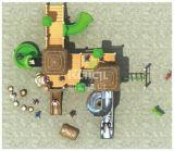 Kaiqi alte populäre Kind-Lieblingsplastikspielplatz-Geräte der Stamm-Serien-Kq60014A