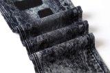 Calças de brim dos homens longos do preto da lavagem da neve da venda de Hote