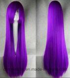 Волос девственницы способа парик Cosplay прямых волос Remy Silk длинний
