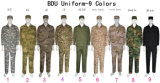 9 couleurs Airsoft Bdu Suit Wargame Paintball Army Military Uniform