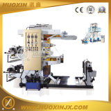 Uma máquina de sopro da película do PE da camada com impressão Inline de 2 cores