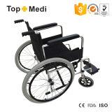 Fixed Footrest를 가진 Topmedi 새로운 Design Aluminum Wheelchair