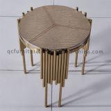 스테인리스 호텔 가구를 위한 고전적인 로즈 금 측 테이블