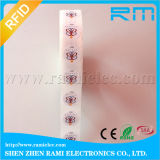 etiqueta pasiva de 13.56MHz RFID con la impresión a todo color
