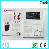 Personalizado LCD Impresión 10.1inch vídeo Folleto