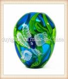Vase en verre multicolore pour la décoration de fleur