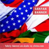 Bandiera d'attaccatura di pubblicità dell'interno della bandierina di volo di goccia del poliestere su ordinazione del tessuto