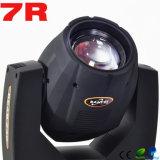 2016 neuer Träger-bewegliches Hauptlicht des Wagen-Licht-230W Sharpy 7r
