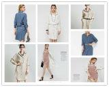Reine Farben-loses Long-Sleeved Hemd-Kleid