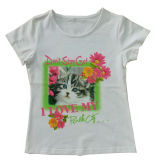 T-Shirt Lovely Girl Children способа в Kids Wear Clothing Sgt-084
