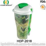 Экологический популярный контейнер салата с вилкой (HDP-2018)