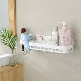 Cremalheira combinada silicone do banheiro para o secador de cabelo e o champô