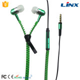 Entwurfs-Metallreißverschluss-Kopfhörer mit Mic abkühlen