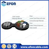 Cable de fibra óptica unimodal autosuficiente aéreo de 12 bases Fig8 (GYFTC8Y)