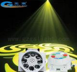Modelo del Gobo de 8 ojos y luz mezclada del efecto del disco LED del color