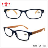 Signore Plastic Reading Glasses con Temple Di legno-Like (WRP503131)