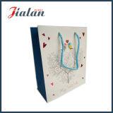 Горячий штемпелюя полный логос печатание дешево подгоняет бумажный мешок подарка