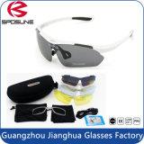 Óculos de sol Multi Sport Óculos de esporte ao ar livre polarizados com 5 lentes intercambiáveis sob medida Espelhadas