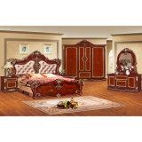 Mobilia classica della camera da letto con il re Bed/base della camera da letto (W802)