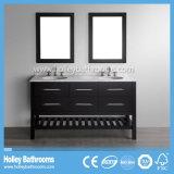 Amerikanische Art-Höhlung-klassische festes Holz-Badezimmer-Zubehör mit LED-Lampe (BV186W)
