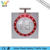 Poteau de signalisation solaire en aluminium de sécurité routière de la vitesse limite DEL