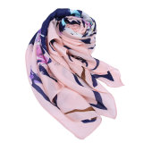 Ladyのための方法Lightweight Printed Scarf