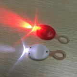 밤에 주자를 위한 빨간 백색 LED 소형 열쇠 고리 빛 안전 경고 램프