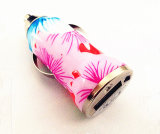 Заряжатель USB приватного тавра напечатанный цветком одиночный с заряжателем автомобиля высокого качества одиночным