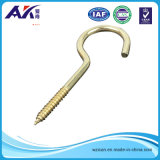 Zinco Plated Screw Hook per Wooden Board