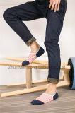 Chaussettes de panneau de chaussettes de coupure du bas de chaussettes de coton d'hommes de modèle de Customed avec des modèles de talon de gel de Silicion