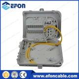 Fdb FTTH 24 Boite de terminaison en fibre optique blanche noire avec glande (FDB-024A)