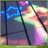 Diodo Emissor de Luz Novo Infinite 3D Mirror Wedding Dance Floor do RGB 3on1
