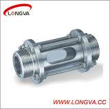 Sanitaire en acier inoxydable tuyau droite verre de vue
